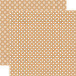 Echo Park - Dots and Stripes Collection - Fall - 12 x 12 Double Sided Paper - Oatmeal Dot