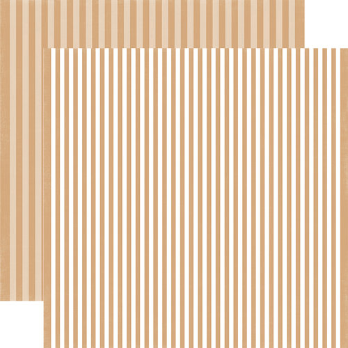 Echo Park - Dots and Stripes Collection - Fall - 12 x 12 Double Sided Paper - Oatmeal Stripe