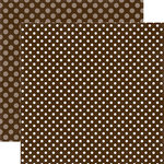 Echo Park - Dots and Stripes Collection - Fall - 12 x 12 Double Sided Paper - Molasses Dot