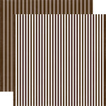 Echo Park - Dots and Stripes Collection - Fall - 12 x 12 Double Sided Paper - Molasses Stripe