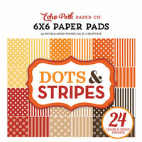 Echo Park - Dots and Stripes Collection - Fall - 6 x 6 Paper Pad