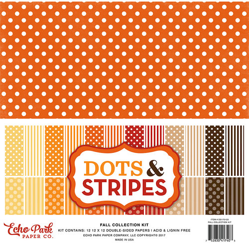 Echo Park - Dots and Stripes Collection - Fall - 12 x 12 Collection Kit