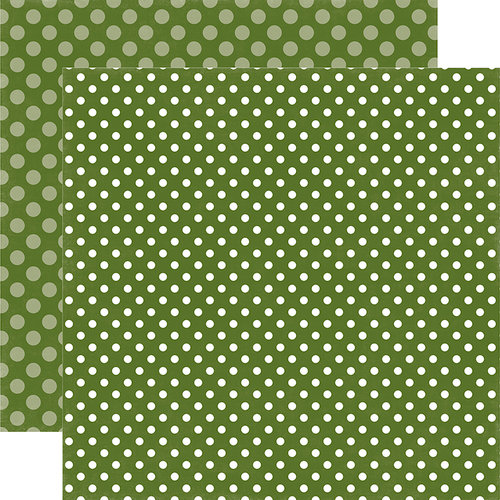 Echo Park - Dots and Stripes Collection - Christmas - 12 x 12 Double Sided Paper - Mistletoe Dot