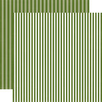 Echo Park - Dots and Stripes Collection - Christmas - 12 x 12 Double Sided Paper - Mistletoe Stripe