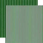 Echo Park - Dots and Stripes Collection - Christmas - 12 x 12 Double Sided Paper - Christmas Tree Stripe