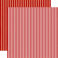 Echo Park - Dots and Stripes Collection - Christmas - 12 x 12 Double Sided Paper - Santa's Hat Stripe
