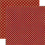 Echo Park - Dots and Stripes Collection - Christmas - 12 x 12 Double Sided Paper - Reindeer Nose Dot