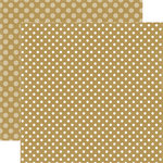Echo Park - Dots and Stripes Collection - Christmas - 12 x 12 Double Sided Paper - Sugar Cookie Dot