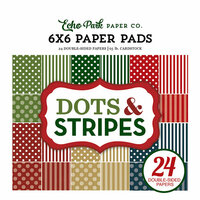 Echo Park - Dots and Stripes Collection - Christmas - 6 x 6 Paper Pad