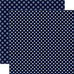 Echo Park - Dots and Stripes Collection - Winter - 12 x 12 Double Sided Paper - Night Sky Dot