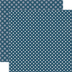 Echo Park - Dots and Stripes Collection - Winter - 12 x 12 Double Sided Paper - Winter Blast Dot