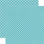 Echo Park - Dots and Stripes Collection - Winter - 12 x 12 Double Sided Paper - Powder Blue Dot