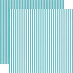 Echo Park - Dots and Stripes Collection - Winter - 12 x 12 Double Sided Paper - Powder Blue Stripe
