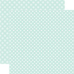 Echo Park - Dots and Stripes Collection - Winter - 12 x 12 Double Sided Paper - Smooth Ice Dot