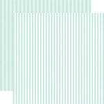 Echo Park - Dots and Stripes Collection - Winter - 12 x 12 Double Sided Paper - Smooth Ice Stripe