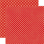 Echo Park - Dots and Stripes Collection - Winter - 12 x 12 Double Sided Paper - Winter Berry Dot