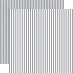 Echo Park - Dots and Stripes Collection - Winter - 12 x 12 Double Sided Paper - Silver Chill Stripe