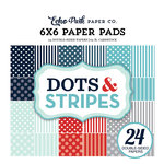 Echo Park - Dots and Stripes Collection - Winter - 6 x 6 Paper Pad