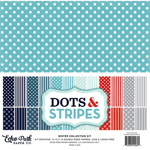 Echo Park - Dots and Stripes Collection - Winter - 12 x 12 Collection Kit