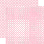 Echo Park - Dots and Stripes Collection - Valentines - 12 x 12 Double Sided Paper - Bubblegum Bliss Dot