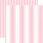 Echo Park - Dots and Stripes Collection - Valentines - 12 x 12 Double Sided Paper - Bubblegum Bliss Stripe