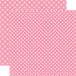 Echo Park - Dots and Stripes Collection - Valentines - 12 x 12 Double Sided Paper - Totally Taffy Dot