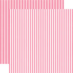 Echo Park - Dots and Stripes Collection - Valentines - 12 x 12 Double Sided Paper - Totally Taffy Stripe