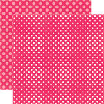 Echo Park - Dots and Stripes Collection - Valentines - 12 x 12 Double Sided Paper - Pink Punch Dot