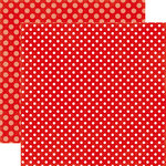 Echo Park - Dots and Stripes Collection - Valentines - 12 x 12 Double Sided Paper - Strawberry Swirl Dot
