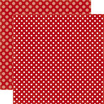 Echo Park - Dots and Stripes Collection - Valentines - 12 x 12 Double Sided Paper - Cherry Berry Dot