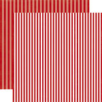 Echo Park - Dots and Stripes Collection - Valentines - 12 x 12 Double Sided Paper - Cherry Berry Stripe