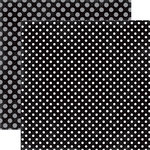 Echo Park - Dots and Stripes Collection - Valentines - 12 x 12 Double Sided Paper - Lovely Licorice Dot