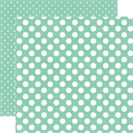Echo Park - Dots and Stripes Collection - Little Girl - 12 x 12 Double Sided Paper - Sweet Mint Dot