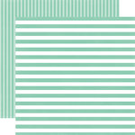 Echo Park - Dots and Stripes Collection - Little Girl - 12 x 12 Double Sided Paper - Sweet Mint Stripe