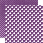 Echo Park - Dots and Stripes Collection - Little Girl - 12 x 12 Double Sided Paper - Grape Dot