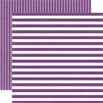 Echo Park - Dots and Stripes Collection - Little Girl - 12 x 12 Double Sided Paper - Grape Stripe