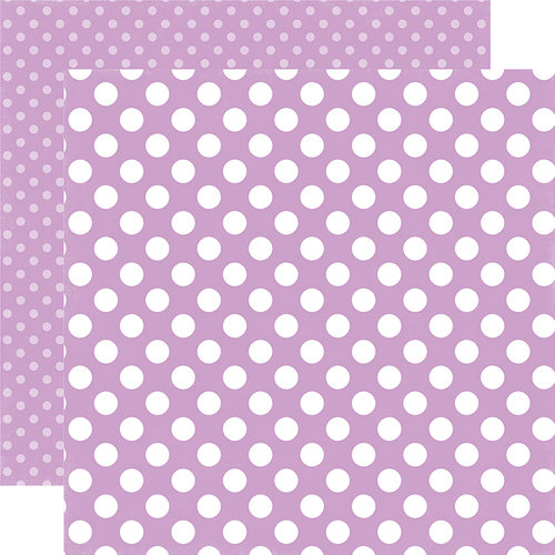 Echo Park Dots & Stripes - Lilac Dot