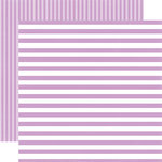 Echo Park - Dots and Stripes Collection - Little Girl - 12 x 12 Double Sided Paper - Lilac Stripe