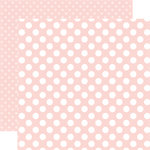 Echo Park - Dots and Stripes Collection - Little Girl - 12 x 12 Double Sided Paper - Rose Petal Dot