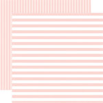Echo Park - Dots and Stripes Collection - Little Girl - 12 x 12 Double Sided Paper - Rose Petal Stripe