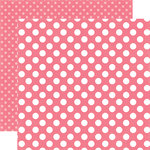 Echo Park - Dots and Stripes Collection - Little Girl - 12 x 12 Double Sided Paper - Lipstick Dot