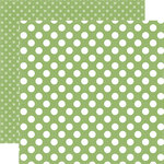 Echo Park - Dots and Stripes Collection - Little Girl - 12 x 12 Double Sided Paper - Garden Green Dot
