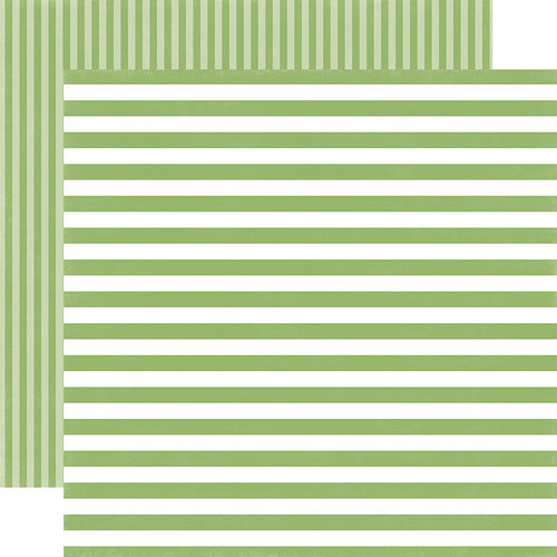 Echo Park - Dots and Stripes Collection - Little Girl - 12 x 12 Double Sided Paper - Garden Green Stripe