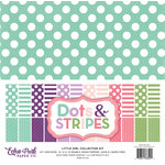 Echo Park - Dots and Stripes Collection - Little Girl - 12 x 12 Collection Kit