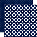 Echo Park - Dots and Stripes Collection - Little Boy - 12 x 12 Double Sided Paper - Blue Denim Dot