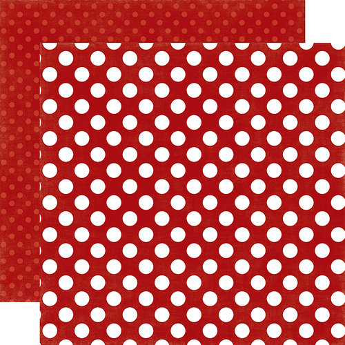 Echo Park - Dots and Stripes Collection - Little Boy - 12 x 12 Double Sided Paper - Fire Truck Dot