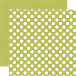 Echo Park - Dots and Stripes Collection - Little Boy - 12 x 12 Double Sided Paper - Inchworm Dot