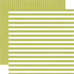Echo Park - Dots and Stripes Collection - Little Boy - 12 x 12 Double Sided Paper - Inchworm Stripe