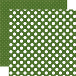 Echo Park - Dots and Stripes Collection - Little Boy - 12 x 12 Double Sided Paper - Crocodile Dot
