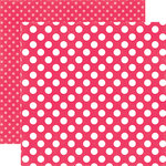 Echo Park - Dots and Stripes Collection - Spring - 12 x 12 Double Sided Paper - Melon Kiss Dot